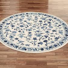 bonnie blue round rug ivory blue 76 round