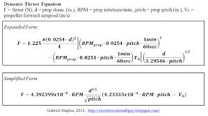 Propeller Static Dynamic Thrust Calculation Flite Test