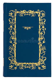 blue with gold pattern vine book cover stock ilration ilration of mcript gold