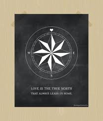 Compass Quotes Beauteous Compass Print True North Love Quote Printable Digital Print 48 X 48
