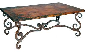 coffee table stunning copper wrought iron furniture by prima artisan round patio coffee ta round iron full size of