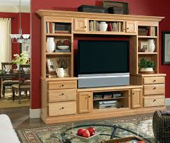 ... Living room storage cabinets in Natural Oak by Kemper Cabinetry ...
