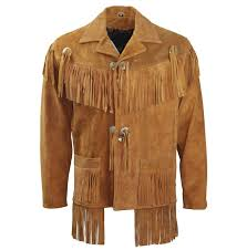 mens suede fringe leather jacket