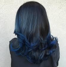 Blue Dip Dye On Light Brown Hair Blue Dip Dye On Dark Brown Hair Hair Coloring
