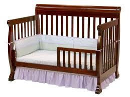 wooden crib bed rail designs