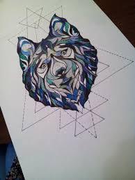 геометрический волк