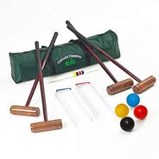 cote croquet set 4 player croquet set in a storage bag upgraded to include