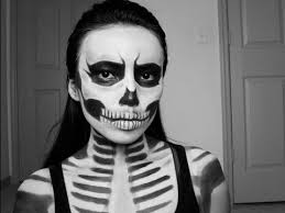 zombie skull last minute look