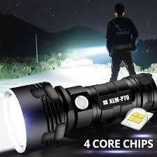 Супер мощный <b>светодиодный фонарь</b> L2 XHP50 <b>тактический</b>...