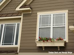 Trim colors for white house Paint Colors Beige And Tan Are Both Brown Tones Which Are Made By Mixing White Into Brown As Pair Tan House Siding And Beige Exterior Trim Give Home An Earthy James Hardie Siding And Trim Color Combinations James Hardie