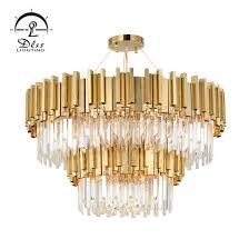 modern led decorative projector metal lighting crystal chandelier