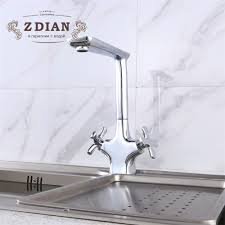 2019 New Chrome Kitchen Sink Faucet Seven Letter Design 360 Degree