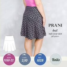 Knit Skirt Pattern Beauteous Prani Half Circle Wide Band Knit Skirt PDF Sinclair Patterns