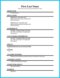 Resume For First Job Mesmerizing Simple Resume For First Job No Experience Resume Corner Resume