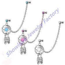 Dream Catcher Helix Earring 100 Helix Chain Earrings Pokballs Chain Earring Pokmon Hlix 33