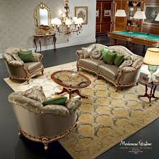 Living Room Luxury Furniture Games Room With Handmade Upholsteries And Furniture And Billiard