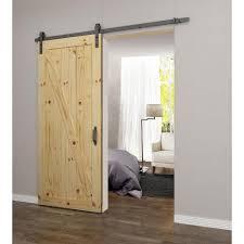 z brace rustic knotty pine barn door