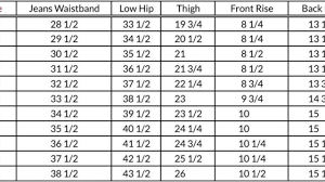 Gap Jeans Size Chart Gap Jeans Size Chart The Best Style Jeans