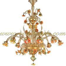 sunflowers amber murano glass chandelier sunflowers