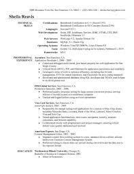 Application Developer Resume Web In Oracle Pl Sql Sample G Cv Cover