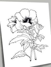 Kleurplaten Voor Alle Leeftijden Bloemen Van De 9 Inch Etsy