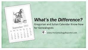 Understanding The Gregorian Calendar For Genealogy Research