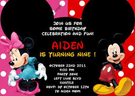 mickey and minnie invitation templates mickey and minnie birthday invitations wblqual com