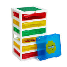 Childrens Toy Storage Unit On Wheels Multi Coloured Pull Out Lego Storage Units