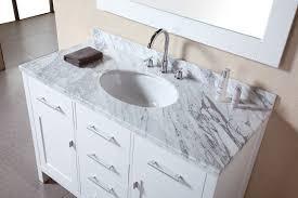 white single sink bathroom vanities. Adorna 48 Inch Single Sink Bathroom Vanity Set Carrera White Top Cabinet Vanities