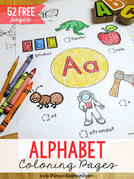 Each letter and number corresponding to accompany the picture. 52 Free Alphabet Coloring Pages Trace Color