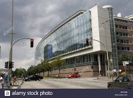 glass facade design office building. germany hamburg office buildings glassfacade streetscene detail hanseatic town ludwigerhard glass facade design building e