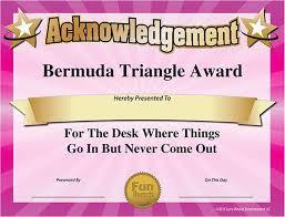 Office Award 101 Funny Office Awards From Comedian Larry Weaver Www Funawards Com