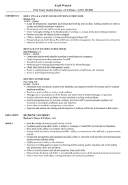 Kitchen Supervisor Resume Sample Kitchen Supervisor Resume Samples Velvet Jobs 1