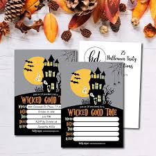 halloween invitations cards 25 haunted house halloween party invitation cards for kids adults vintage birthday or wedding bridal baby shower paper invites scary costume dress