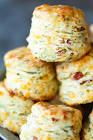 black pepper and bacon drop biscuits