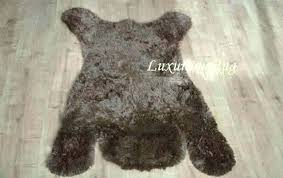 faux fur bear skin rug nursery woodland baby by for brown be