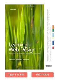 Learning Web Design Learning Web Design Jennifer Niederst Robbins Pdf A