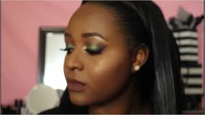 fall 2016 emerald green makeup tutorial nubian 2 palette abh foundation stick nowchic