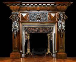 oak fireplace mantel classic