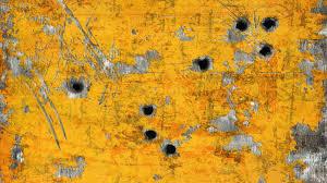 Bullet Holes In Metal Wallpaper 1259203