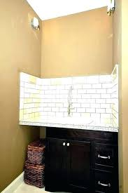 Utility Sink Backsplash Simple Laundry Room Backsplash Great Laundry Room Organization And Design