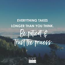 Trust The Process And With Patience All Things Work Out Oola