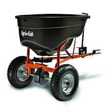 agri fab 130 lb capacity tow behind lawn spreader