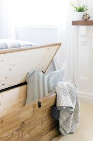 this diy blanket storage chest will fit beautifully into any space and provides great additional storage