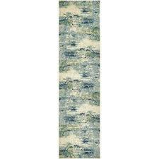chromatic avalon light blue 2 7 x 10 0 runner rug