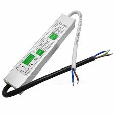 12V 20W IP67 <b>Waterproof</b> Electronic LED Power Supply - White Silver