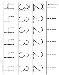 Number Tracing Worksheet Numbers 1 to 4 | Number tracing, Number ...