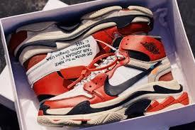 Sneaker Vending Machine Adorable OFFWHITE Nike Air Jordan 48 X Balenciaga Triple S Custom
