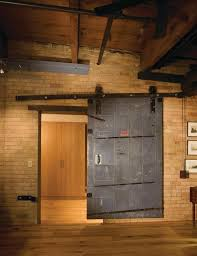 The tin-clad sliding door, which the owner found, likely came from a