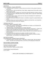 Server Job Description For Resume Mesmerizing Server Job Description For Resume Best Of Restaurant Server Resume